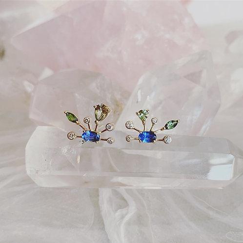 COELIA Kyanite Stud Earrings - pair