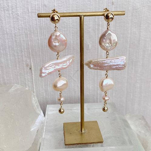 BIRCH Pearl Earrings - I