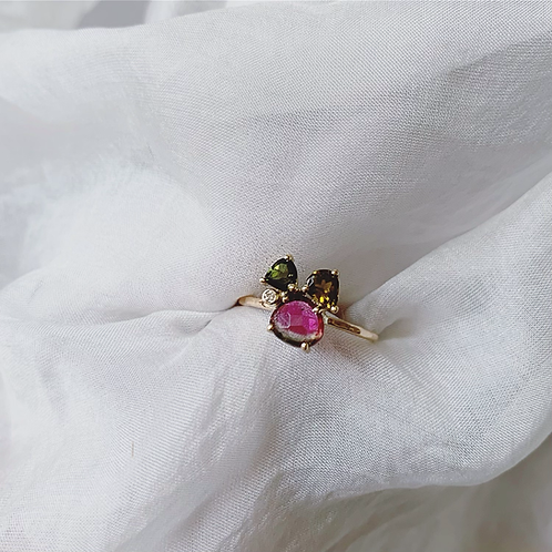 HARVEST Ring - Pink/Green