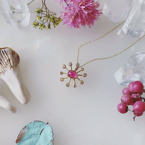 DANDELION Necklace - PINK