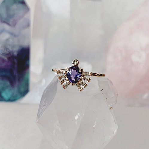 ROYAL BEETLE Ring - PURPLE SAPPHIRE