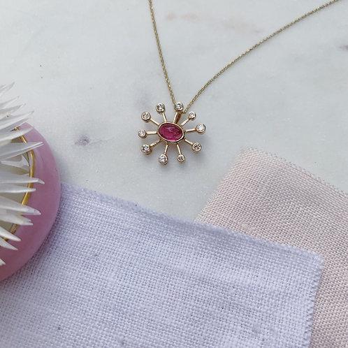 DANDELION Necklace - PINK