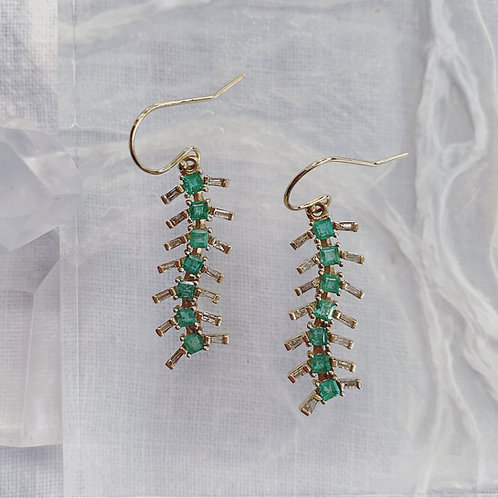 CENTIPEDE Earrings - Green