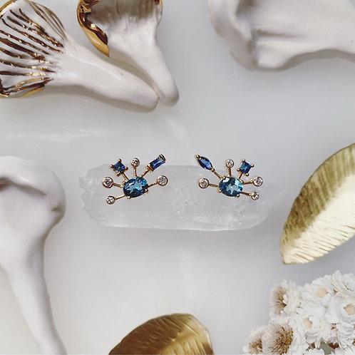 COELIA Topaz Stud Earrings - pair