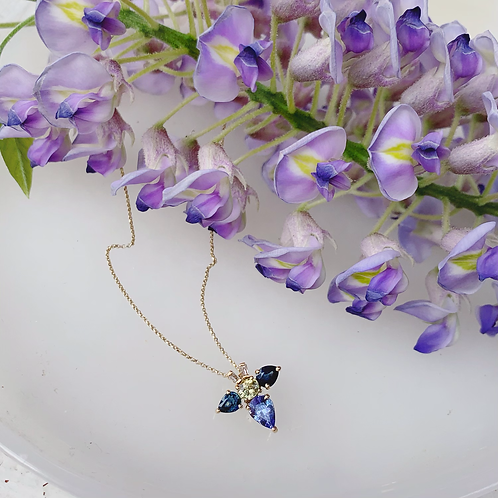 FIREFLY Necklace - Sapphire