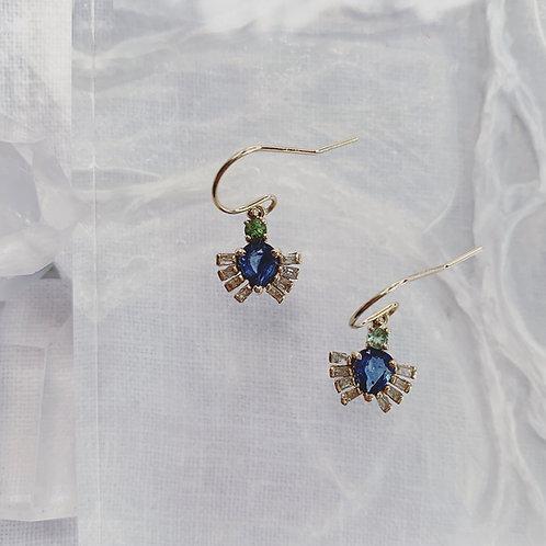 CADUCA Earrings - Blue Sapphire CUSTOM ORDER