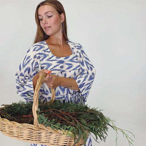 MAXI KAFTAN - BLUE IKAT