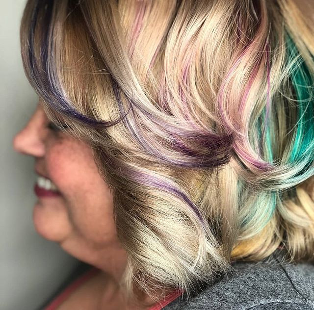 Pops of color by _hairbykaitlyn94__#Colo
