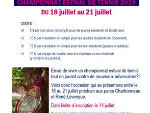 CHAMPIONNAT ESTIVAL DE BOISBRIAND