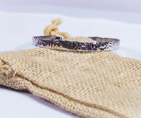 Live 2 Give Sterling Silver Cuff