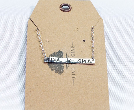 Live 2 Give Sterling Silver Necklace