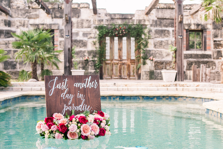 Alamo Pool Sign