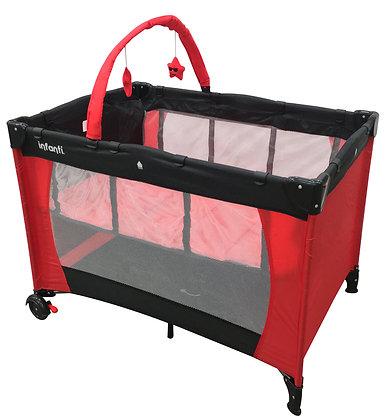 Cuna De Viaje Ammi Red And Black - Infanti