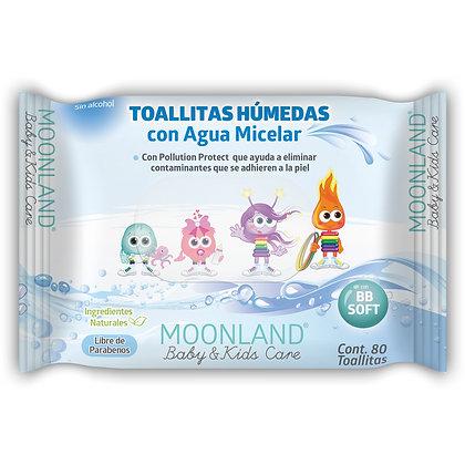 Toallitas Húmedas Agua Micelar 80 - Moonland