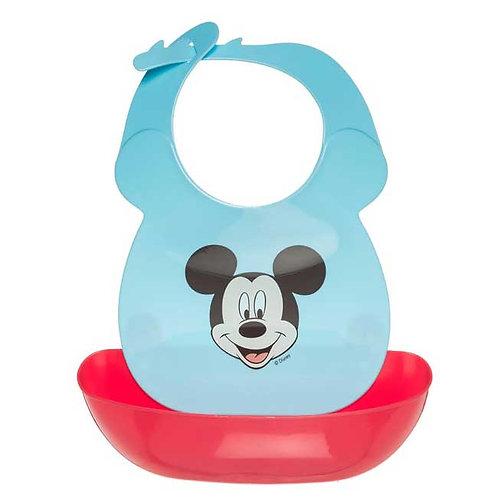 Babero con Compartimento Antiderrames - Disney