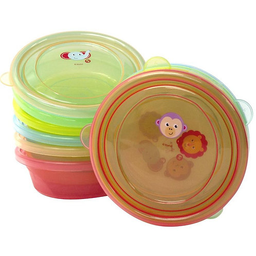 Tazones Para Alimentos Con Tapas 6 piezas - Fisher Price