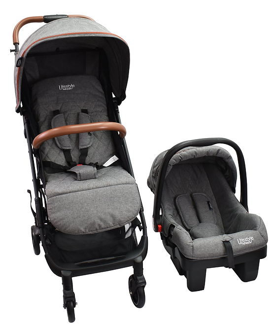 Carriola Lock It Travel System Gris - Infanti