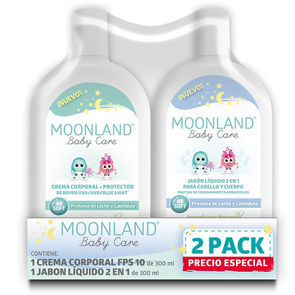2 Pack Mixto Jabón & Crema - Moonland