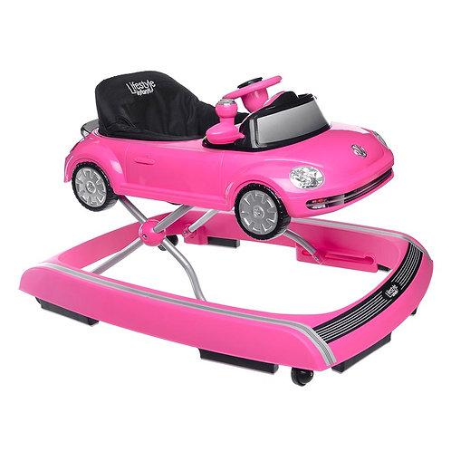 Andadera VW Con Charola Electrónica Pink - Infanti