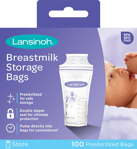 Pack 100 Bolsas De Almacenamiento Para Leche Materna - Lansinoh