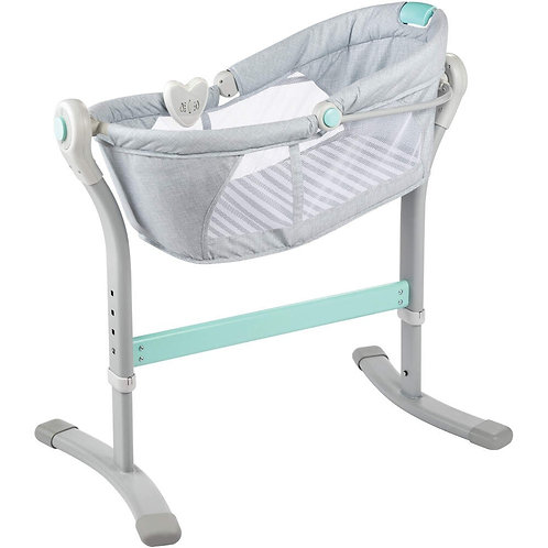Cuna By Your Bed Grey And Teal - Summer
