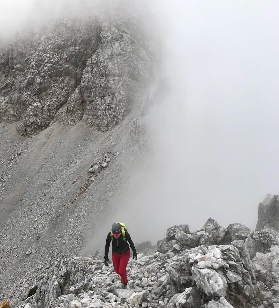 Uhojen del poti na vrh Palca