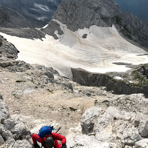 Začetek plezalne poti