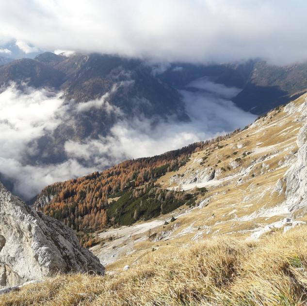 Razgled nazaj proti dolini