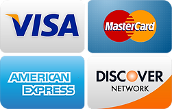 Our tow service accepts all major credit cards including Visa, MasterCard, American Express, and Discover.