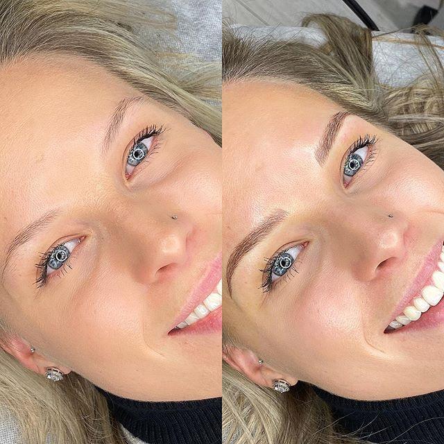 New brows, same beautiful smile 😍🥰_._.