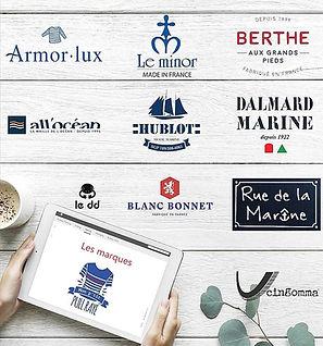 Les marques de mode marine : Armor-Lux - Le Minor - Dalmard marine - Hublot - Berthe aux grands pieds - All Océan