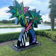 Monumental Palm Tree by Romero Britto