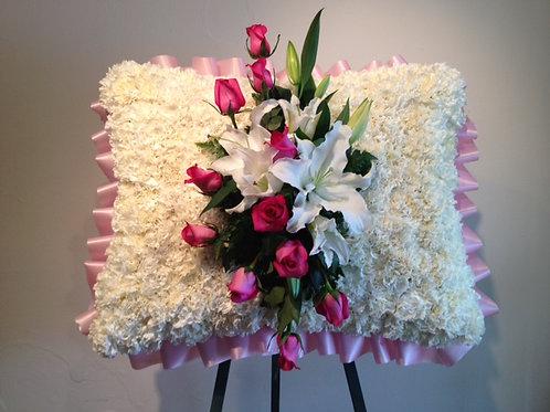 Pillow shape sympathy flower (SF 011)