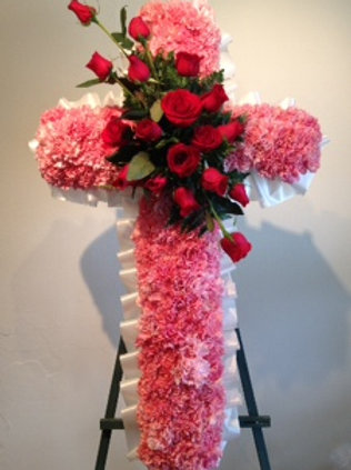 Cross shape funeral arrangement (SF 024)