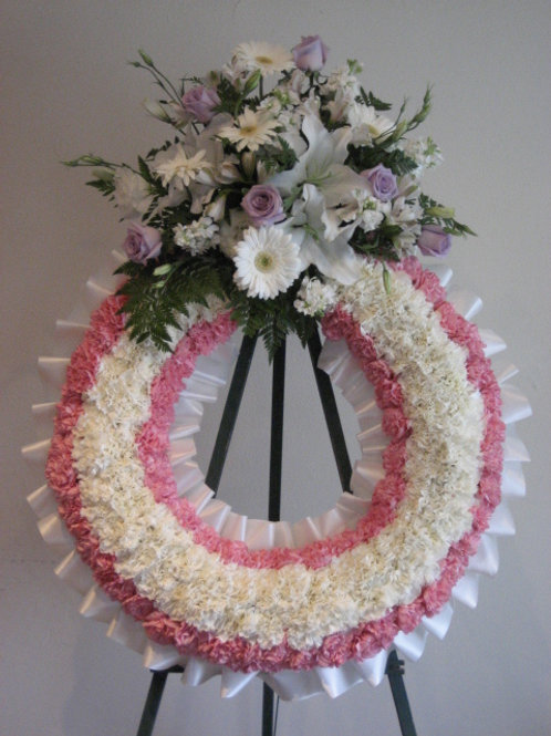 "24"" Funeral wreath (SF 012)"