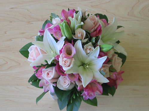 Bridal Bouquet with Rose, Lily and Freesia (WE003)
