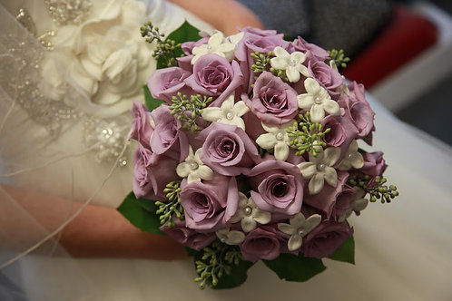 Bridal Bouquet with Rose, Stephanotis and Green (WE 001)