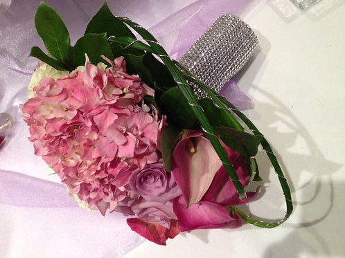 Bridal Bouquet with Rose, Hydrangea, Calla Lily and Green (WE 004)
