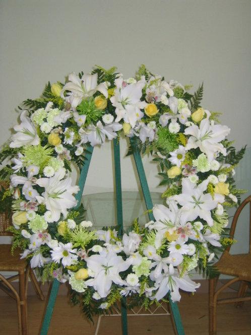 Water foam funeral wreath flower arrangement (SF 018)