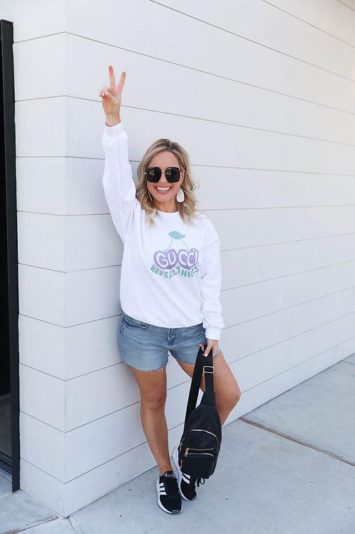 Summer Grapes Sweatshirt ( Vintage Feel )