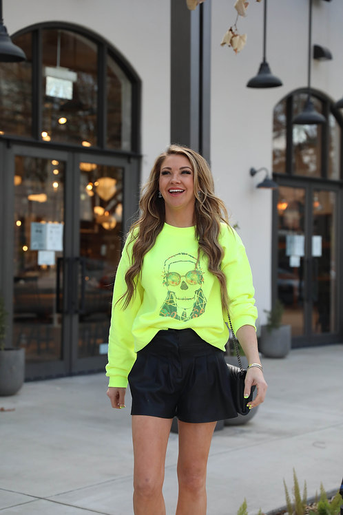 Neon Lights Sweatshirt ( Vintage Feel )