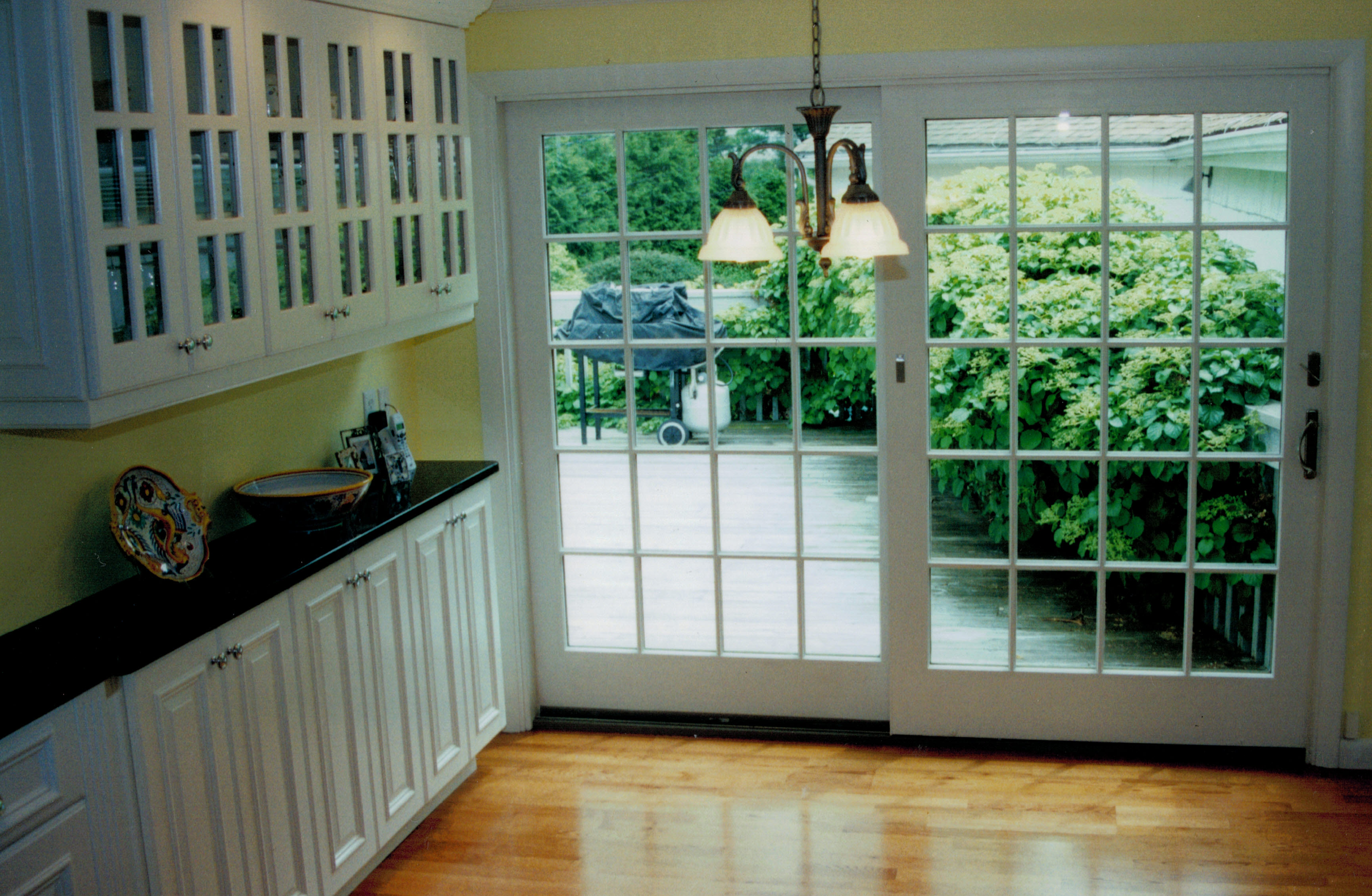 kitchen with sliding glass door 2