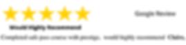 All 5 Star Reviews Prestige Training 1.p