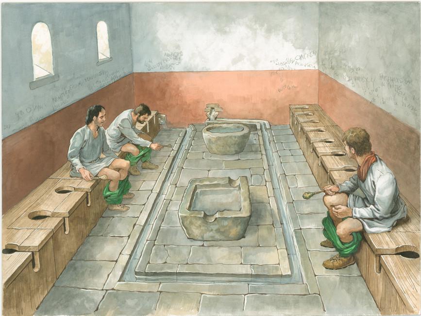 Roman toilets & sewers