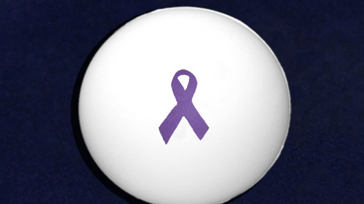 Purple Ribbon Stress Ball