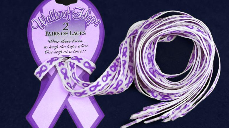 Purple Ribbon Shoelaces