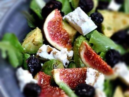 Recette - salade de figue, chèvre et avocat