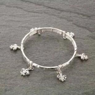 Fleur De Lis Double Stretch Bracelet