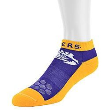 LSU Tigers low-cut socks