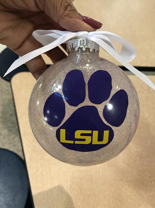 "Christmas ""LSU"" Ornaments"